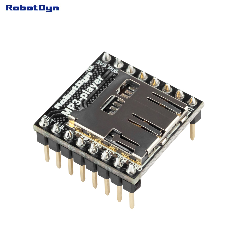 MP3 Player WTV020, With Micro-SD Reader. Audio MP3 Module Compatible For Arduino, AVR, ARM, PIC - MP3.