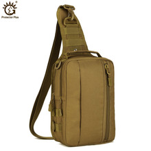 купить Men Army Waterproof Chest bag Military Molle Single Shoulder Bag Crossbody Bag for Outdoor Hiking Camping Hunting дешево