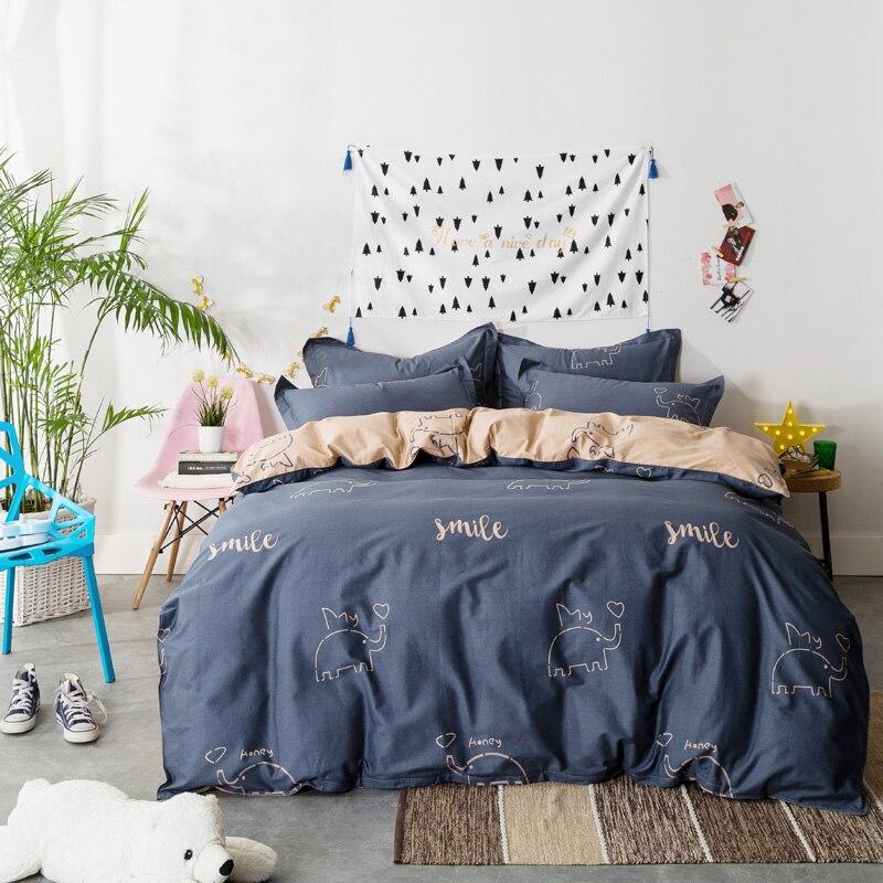 Svetanya Sheet Pillowcases Comforter cover Sets Elephant Kids Bedding Set Queen Double Full Twin size Bed Linens 100% Cotton