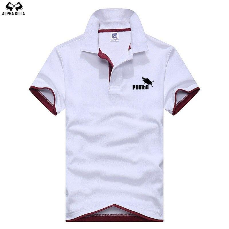 2018 fashion Men's Pumba Lovely   polo   shirt men high quality100% cotton   polo   summer lapel business men   polo   shirt M-3XL   polo