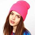 Negro Gris Beige Sombreros de Invierno para Hombres de Las Mujeres de Punto Beanie Sombrero 2017 Moda Vintage Balaclava Gorro de Lana Marca Partido Earwarmer