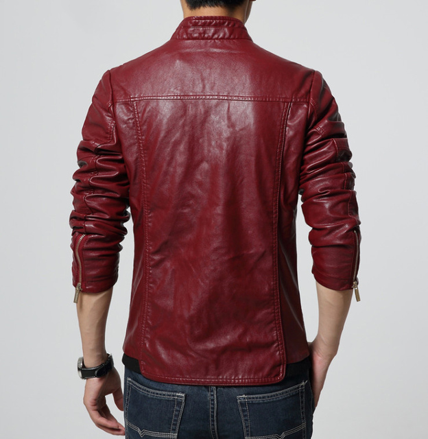 Men's PU Jackets Coats Motorcycle Leather Jackets Men Autumn Spring Leather JACKET and coat Casual Biker Jacket Male Outerwear