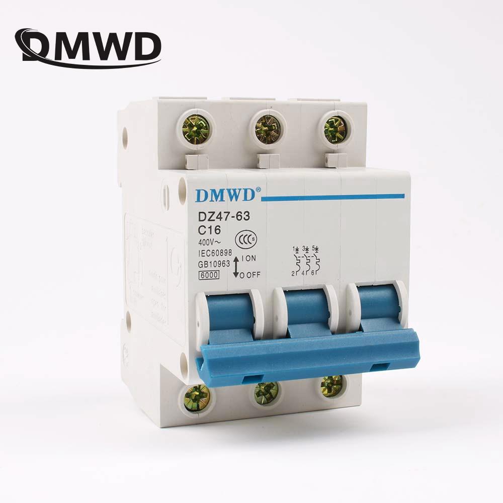 AC 230V DZ47-63 1 Pole High Q Miniature Circuit Breaker Cutout Switch Chopper