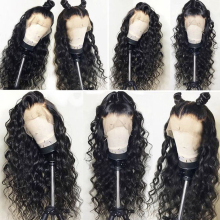 Pre Plucked Lace Front Human Hair Wigs For Black Women Natural Color Loose Wave Brazilian Remy Human Hair Wigs Bleached Knots