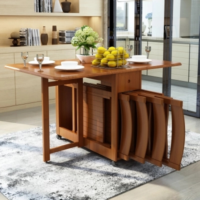 Solid Wood Dining Table Folding Table Simple Retractable Oak Table Household Small Dining Table Small Dining Table Wood Dining Tabledining Table Aliexpress