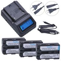 3pc 7.2V NP FM500H NP FM500H Rechargeable Camera Battery + LCD Quick Charger For Sony FM500H A57 A65 A77 A99 A350 A550 A580 A900