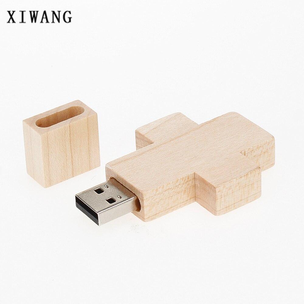 Image 2 - custom LOGO wooden cross usb flash drive 128gb pendrive 4GB 8GB 16GB pen drive 32GB 64GB key waterproof best gift free shipping-in USB Flash Drives from Computer & Office