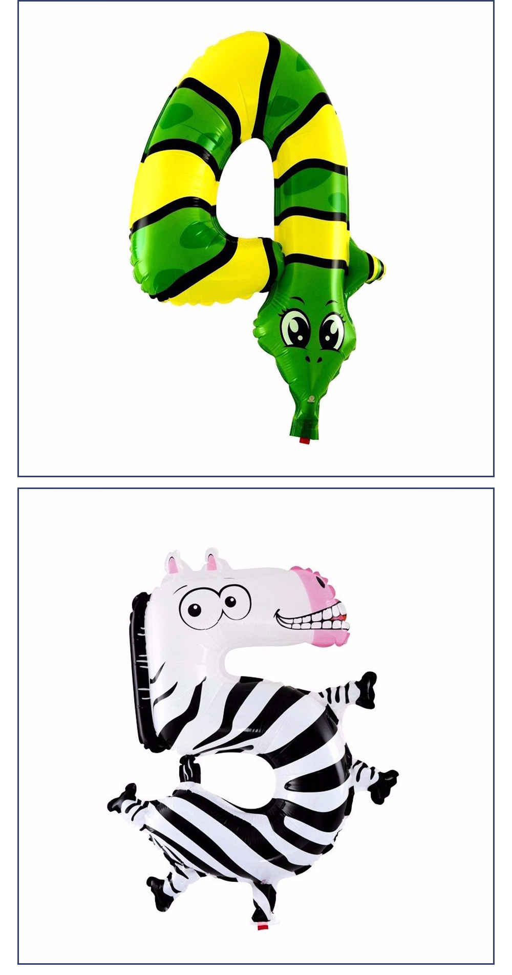 6 дюйм(ов) ов) животных мультфильм номер фольга воздушные вечерние шары партии Hat цифра воздушные шарики день рождения для детей игрушечные