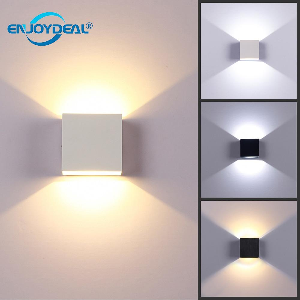 Led Indoor Wall Lamps Post-modern Wall Light Led 85-265v Round Industrial 5w Lamp Up Down Bathroom Bed Stairs Luminaire Decor Shrink-Proof