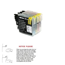 1 компл. совместимость lc11 lc16 lc38 lc39 lc60 lc975 lc985 lc61 lc65 lc67 lc980 lc990 lc1100 чернильный картридж для brother