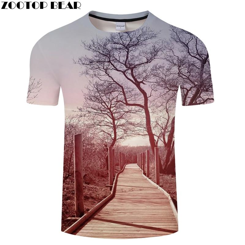 Autumn tshirt 3D t shirt Men Women t-shirt Harajuku Tee Streatwear Top Fashion Scenery Male O-neck Hip Hop Drop Ship ZOOTOPBEAR
