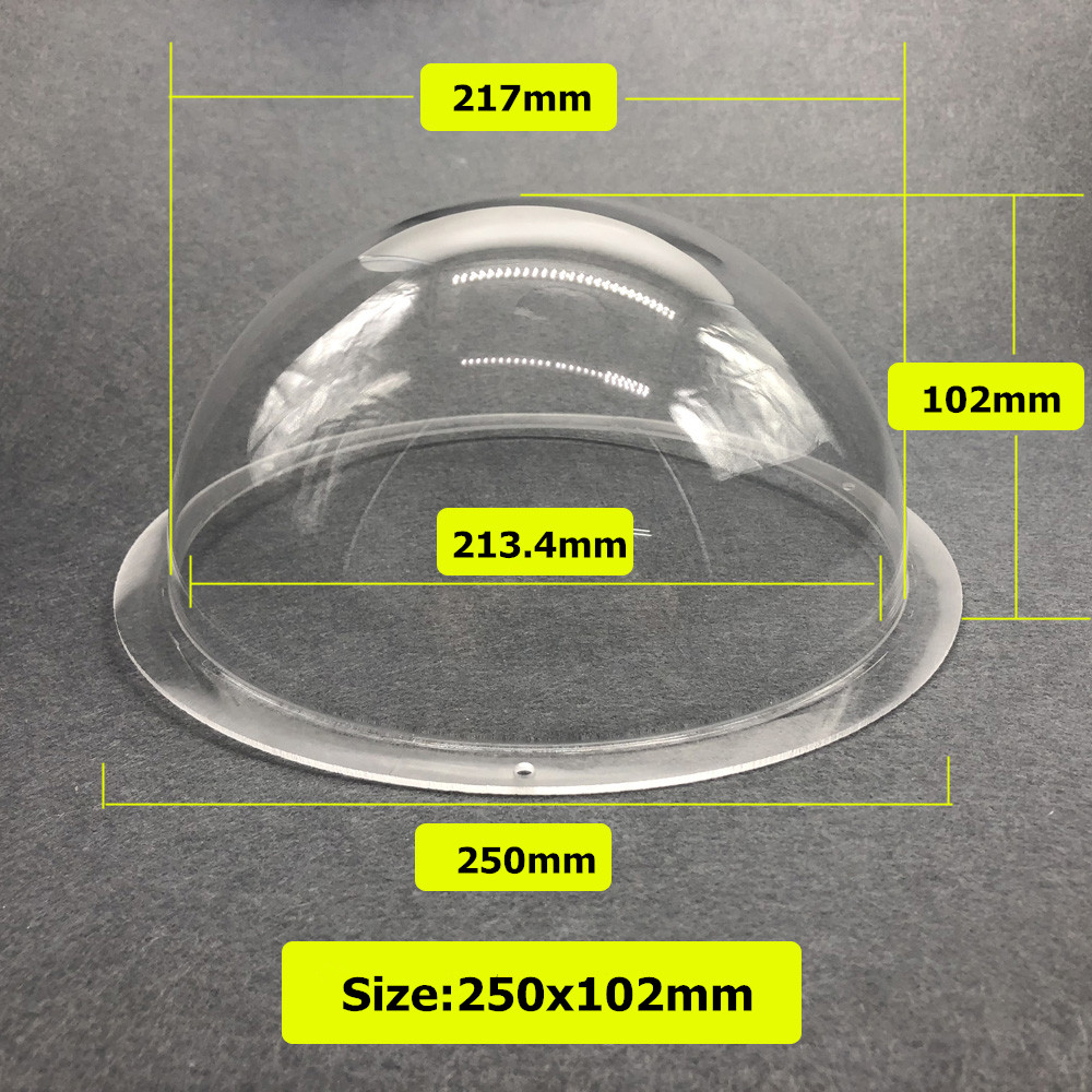 250x102mm 9inch CCTV Security Surveillance Clear Acrylic Dome Camera Protective Housing Cover camera Hemisphere Antidust Housing250x102mm 9inch CCTV Security Surveillance Clear Acrylic Dome Camera Protective Housing Cover camera Hemisphere Antidust Housing