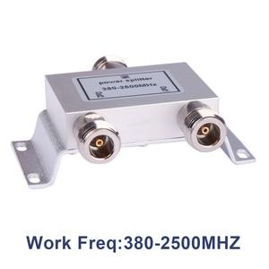 Image 2 - Gorąca rozdzielacz koncentryczny 1 do 2 sposób zasilania Splitter 380 2500 MHz wzmacniacz sygnału dzielnik N żeńskie 50ohm dla antena 4g