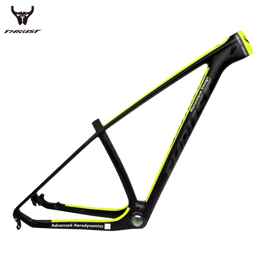 THRUST Carbon Frame 29er 15 17 19 inch Carbon mtb Frame 27.5 Mountain Bicycle Carnon Bike Frame Yellow BSA BB30 Customize Color new hot bicycle frame 29er mtb carbon mountain bike frame glossy matte ud bicycles frameset bsa bb30 pf30 2017