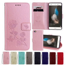 Leather Case For Huawei P8 Lite Cases Wallet Cover Flower Design Phone for