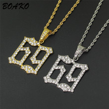 2019 Hip Hop Jewelry CZ Crystal Necklace Women Men Ice Out Bling 6ix9ine Pendant Gift Long Chain Statement
