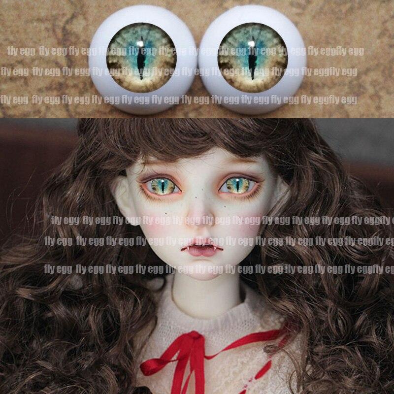 Bjd Eyes 1/4 Green Animal Eyes DIY Acrylic BJD Eyes 12mm 14mm 16mm 18mm 20mm 22mm Pressure  BJD Dd Doll Eyes 1/3 1/8 1/6 Toy Eye