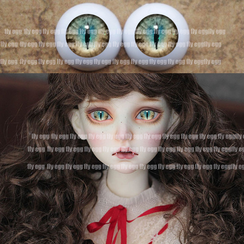 Bjd Eyes 1/4 Green Animal Eyes DIY Acrylic BJD Eyes Eyes 12mm 14mm 16mm 18mm 20mm 22mm Pressure Sd Msd BJD Eyes 1/3 1/8 1/6 Doll