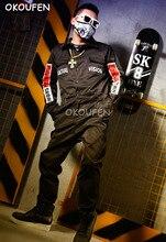 Nightclub Bar Singer DJ DS Costume Stage show performance Clothes Black Fashion Workout Uniform Street Dance Wear Hip Hop