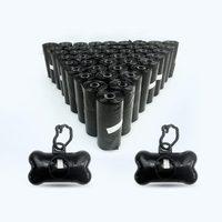 1 Set 20 42 Rolls Black Dog Poop Bags Dispenser Pet Poo Bag Disposable Garbage Bag