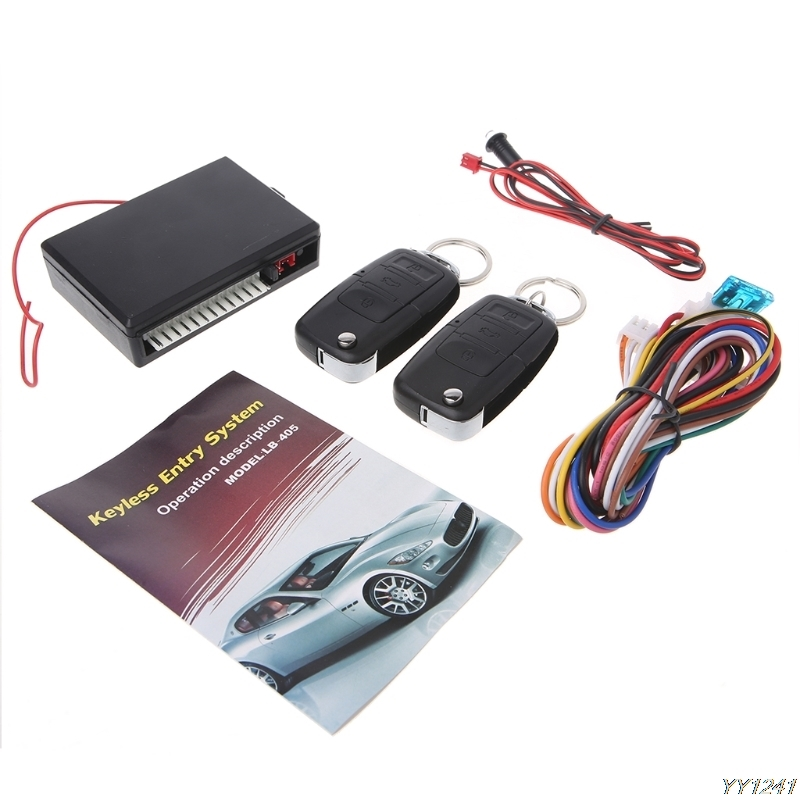 Sistema de entrada keyless de bloqueio da porta do jogo central de controle remoto do carro universal sistema de entrada do veículo do alarme com controladores remotos-y