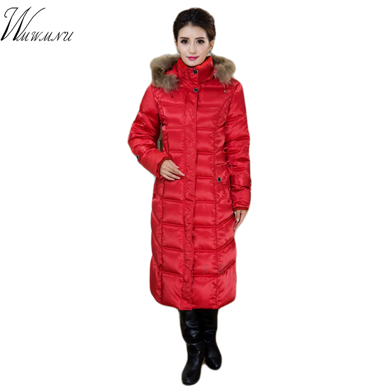 wmwmnu fashion plus size 5XL winter jacket   Parkas   women 2017 Thick cotton Warm long Female jacket High-quality coat   parkas