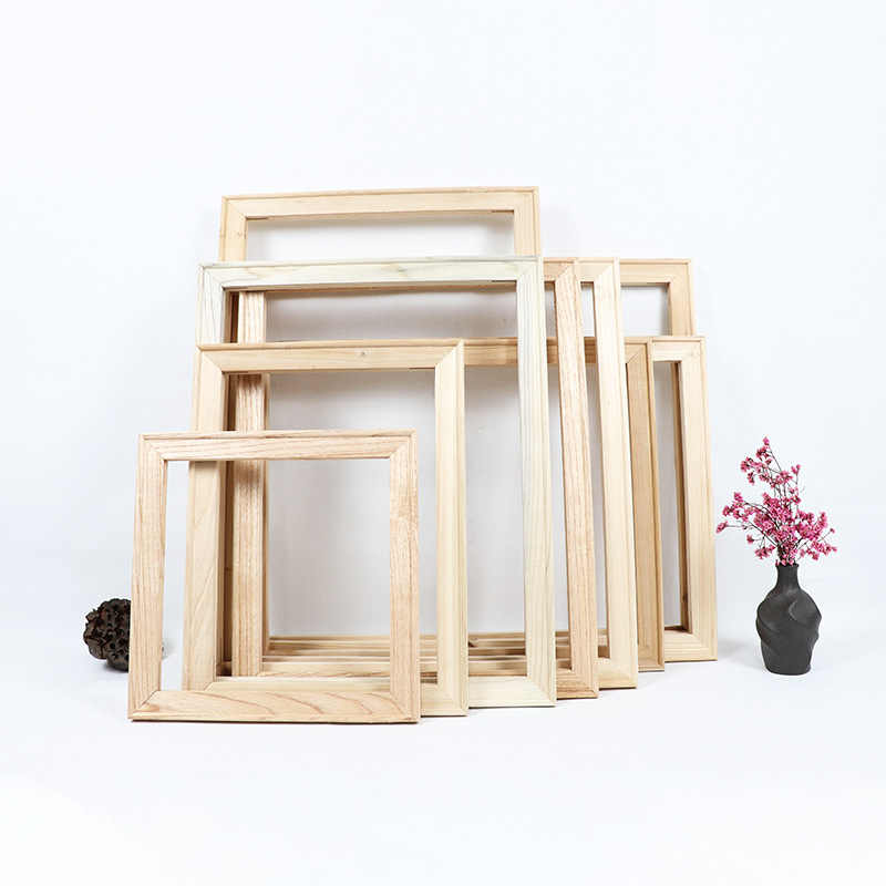 Painting Frame Inner Wood frame for canvas oil painting picture inner frame Square Rectangle Wooden Assembly Picture Frame