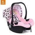 Assento de Carro Do Bebê portátil 5 Ponto Arnês Para Recém-nascidos Infantil Cesta de Carro Viagem Confortável Segurança Rear-facing Instalação C