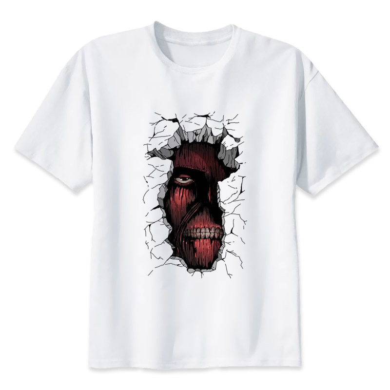 Attack On Titan t shirt men fashion male boy t-shirt Young tee white tshirt MR1015