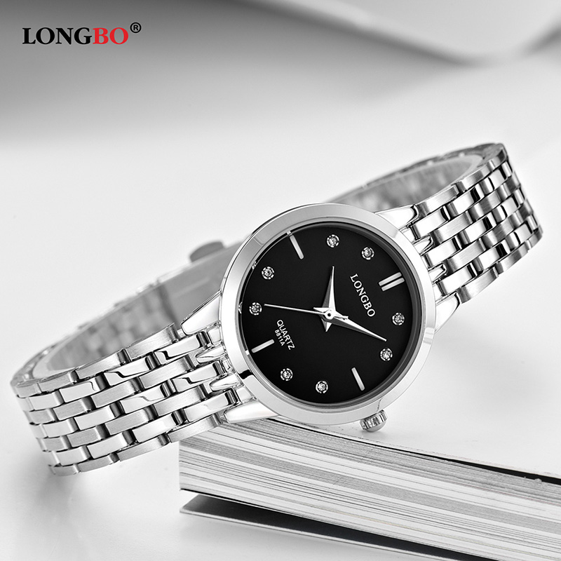 LONGBO Brand New Casual Men Women Watch Stainless Steel Band Fashion Lovers Watches Waterproof Couple Wristwatches Gifts 8811