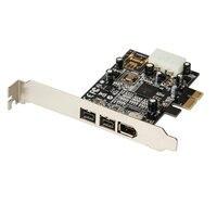 PCI Express 3 Port Firewire 1394B & 1394A PCIe 1.1 x1 Card TI XIO2213B Chipset