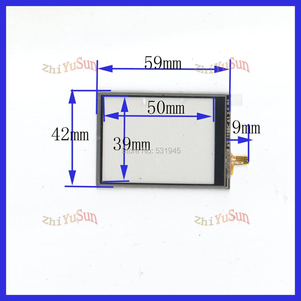 ZhiYuSun NEW 59mm*42mm Touch Screen  USB touch panel and MP4 MP5 GPS car overlay kit 59*42 TOUCH SCREEN  GLASS AT1190C
