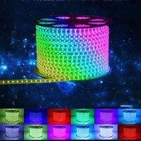 SMD 5050 AC220V RGB LED Led Strip Waterproof Flexible Bar Light 60led M 5M 10M 15M