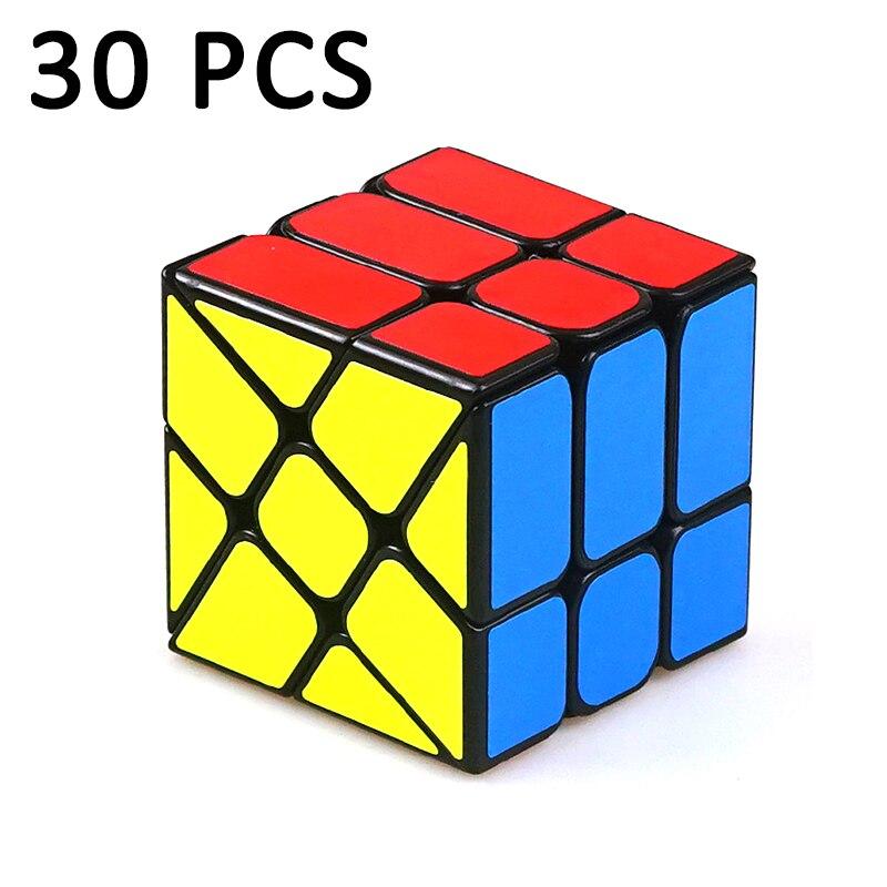 30 pièces YongJun YJ professionnel étrange-forme Cube magique Puzzle Cube vitesse néo Cubo Magico autocollant éducation jouets pour enfants