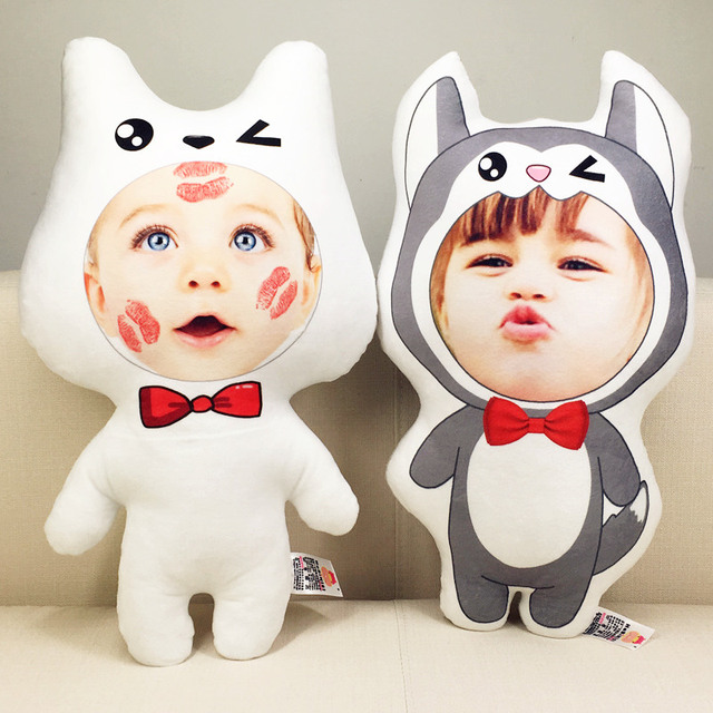 Photo customization pillow  dog cushion for the creative birthday present Image Doll Birthday Valentine's Day Gifts Personality