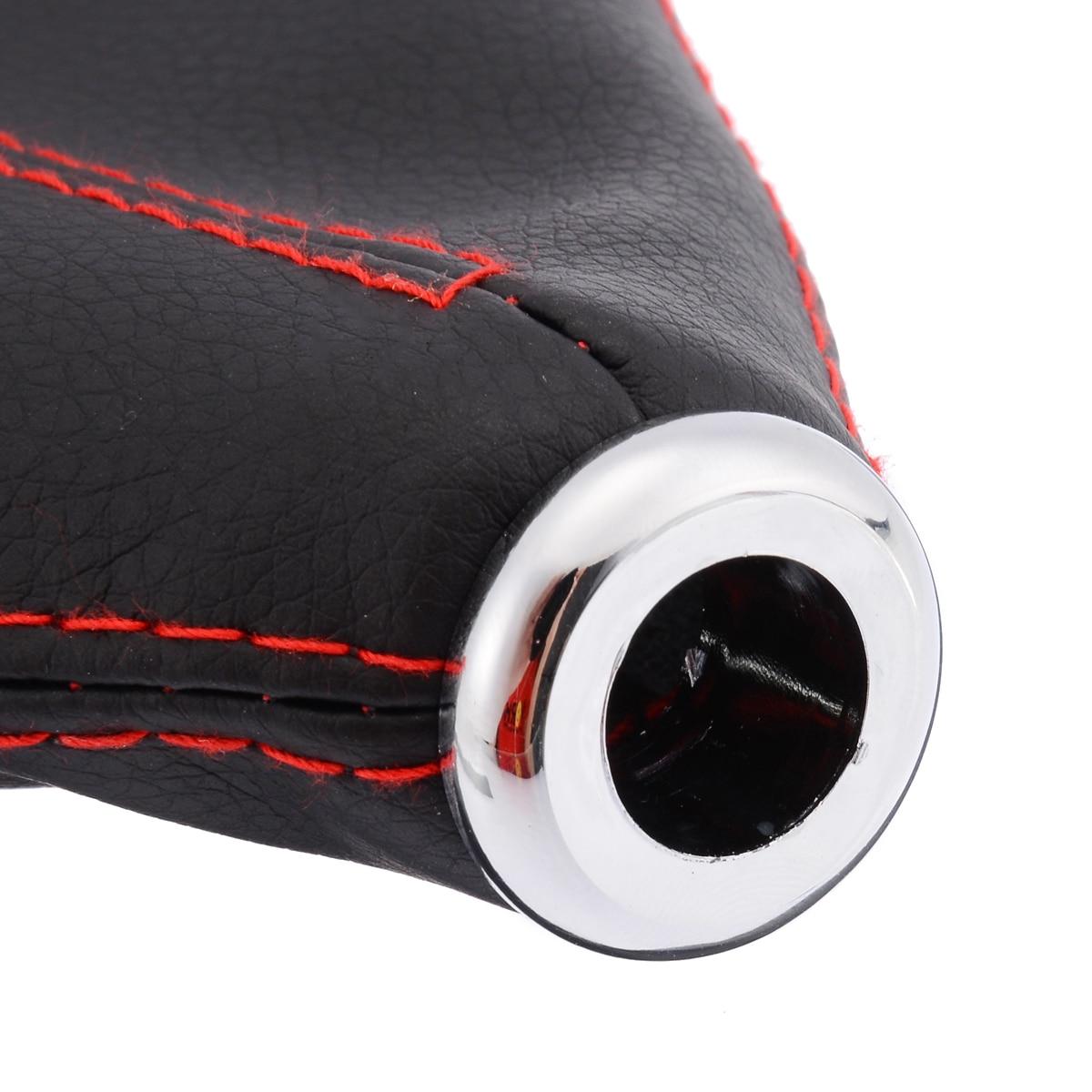 "Treyues 1pc 15mm/0.6"" Universal PU Leather Car Auto Gear Shift Collars Car Manual Shifter Gear Shift Boot Cover Gaiter"