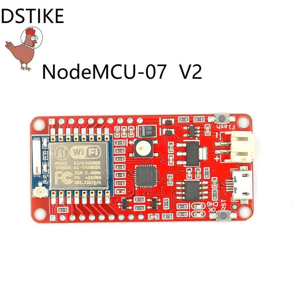 DSTIKE NodeMCU-07 V2(WiFi deauther preflashed) ESP8266+2dBi antenna+Li battery charger ESP-07 New NodeMCU LM39100 Low power cost