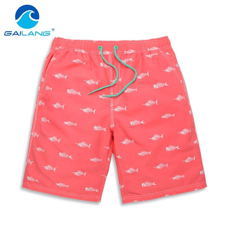 Gailang Brand Men Beach Shorts Casual polyester Man Boardshorts Swimwear Swimsuit Boxer Trunks for Mens Bermuda Quick Drying