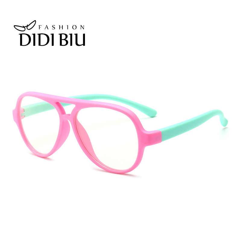 Crianças Anti Blue Ray Óculos Crianças TR90 Flexível de Titânio Grandes Óculos de Prescrição de Óculos Quadros Meninos Meninas Rosa Vermelha CN1068