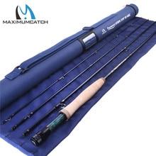 Maximumcatch 3WT/4WT Nymph Fly Fishing Rod Graphite Carbon Fiber 10FT 4Sec with Cordura Tube
