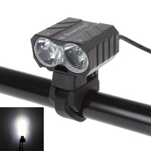 1800 Lumens Bike Headlight 2x CREE XM-L T6 LEDs Waterproof Rechargeable Rotatable Owl Bicycle Lamp with Battery & Charger waterproof bike headlamp headlight 23000 lumens 12 x cree xm l t6 led cycling bicycle helmet light 18650 battery pack charger