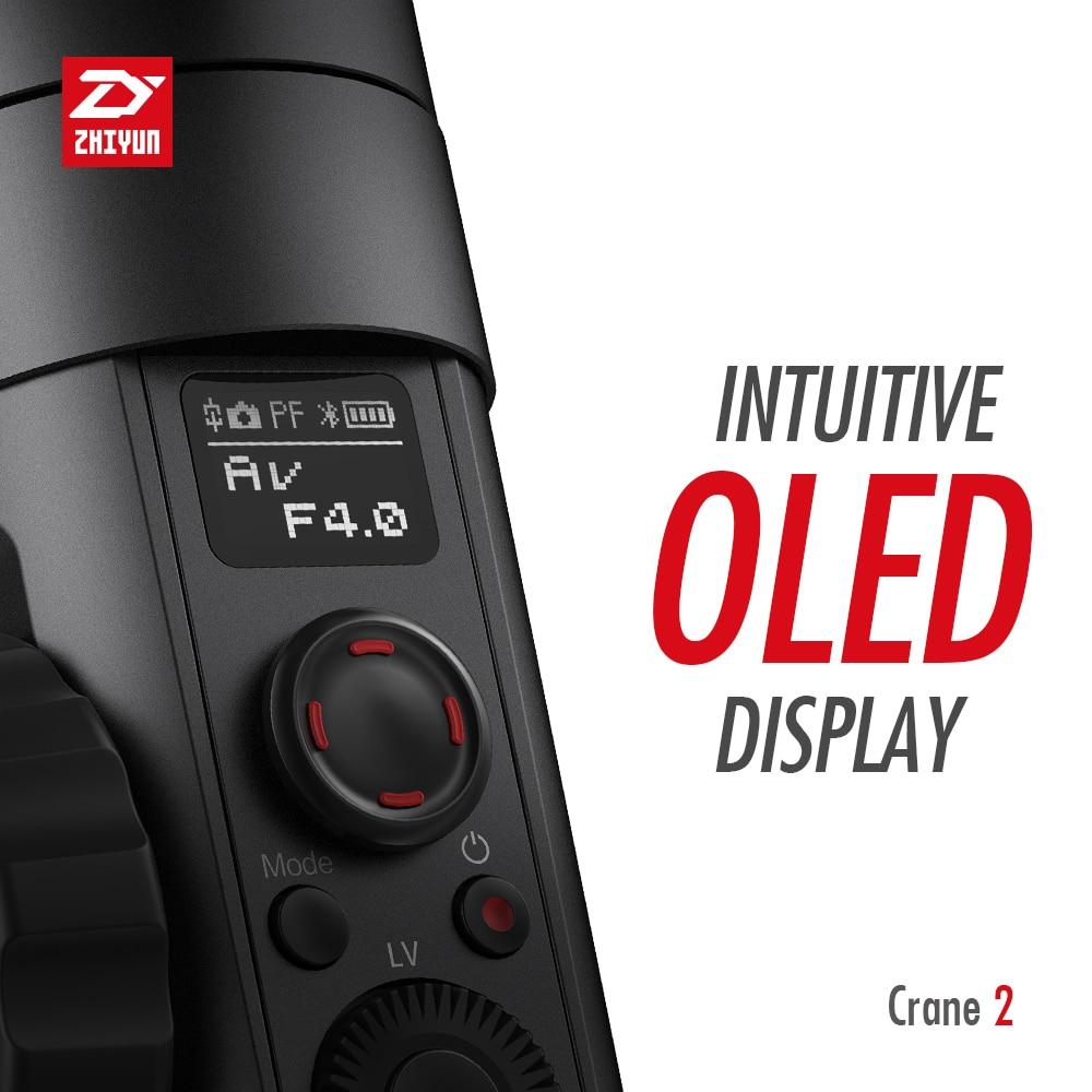 ZHIYUN Crane 2 3-Axis Handheld Gimbal Video Stabilizer with Servo Follow Focus for Canon 5D2 5D3 5D4 GH3 GH4 Sony DSLR Camera 4
