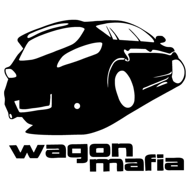CK2389#15*18cm wagon mafia funny car sticker vinyl decal silver/black auto stickers for bumper window decorations