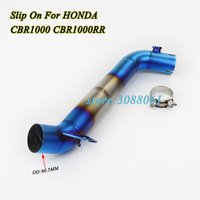Slip On For Honda CBR1000RR 2008 2009 2014 Motorcycle Exhaust Modified Motorbike Middle Connect Tube Link Pipe Without Muffler