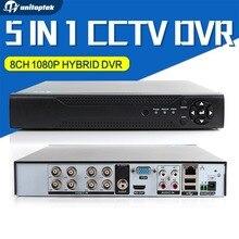 5 в 1 8CH AHD CVI TVI DVR 1080 P цифрового видео Регистраторы ahdh/ahdnh сети Мониторы, cctv dvr Регистраторы максимум до 4 ТБ P2P/cms вид