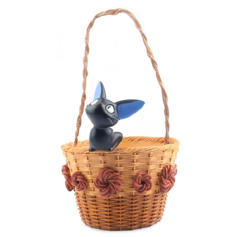 Hot Sale Miyazaki Kiki's Delivery Service Kiki Cat Basket Resin Flower Pot Action Figures Collection Model Toys Children Toys hot sale 1000g dynamic amazing diy educational toys no mess indoor magic play sand children toys mars space sand