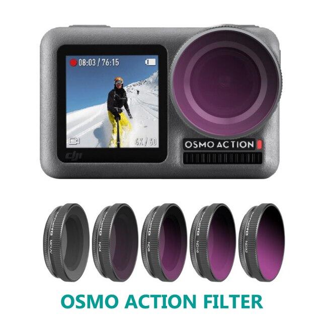 OSMO bolsillo ND4PL ND8PL ND16PL ND32PL ND64PL NDPL Filtro de filtro de la lente para DJI Osmo bolsillo cardán Cámara