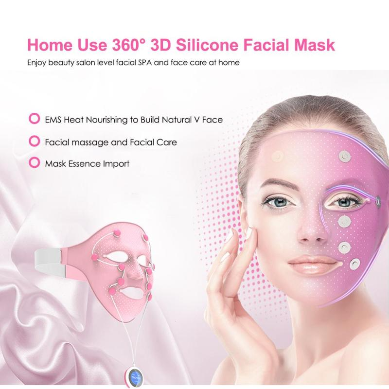 Silicone Facial Massage Device Ladies Face Mask Essence Vibration Massager Whiten Skin V Face Chin Cheek Tools Daily Use Z3 free shipping new v line face cheek chin lift up slimming slim 3d face massage mask