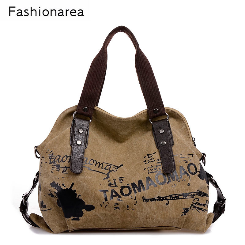 Women's Bag Vintage Graffiti Canvas Handbag Large Casual Tote Bags Female Shoulder Bag Ladies Travel Bag Sac a Main bolsos Mujer women canvas patchwork handbag high quality brand luxury ladies tote bags big casual shopping female shoulder bag bolsos mujer