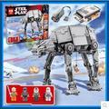 NUEVA LEPIN 05050 1137 unids AT-AT el robot Modelo Building blocks Ladrillos Clásico Compatible 75054 Chicos Regalo de Star Wars de Energía motor